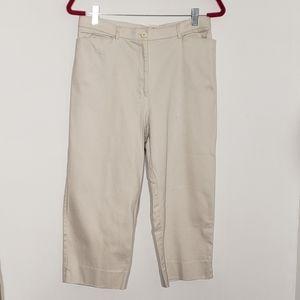 St. Johns Bay khaki stretch cropped pant size 12